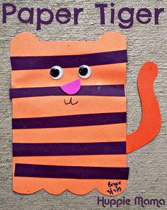 Paper Tiger Preschool Craft