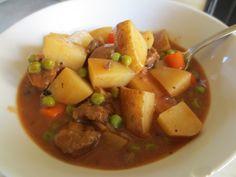 Vegetarian Beef stew in the crockpot