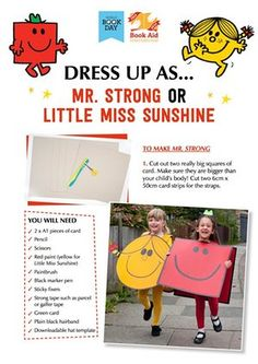 World Book Day what to wear - Great costume ideas here for World Book Day on 5 March. Share your best costumes and how you made t - Mr Men Costumes, Book Costumes, World Book Day Costumes, Teacher Costumes, Book Week Costume, Halloween Costumes, Diy Costumes, Halloween Kids, Character Dress Up