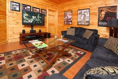 Imagine is a stylish cabin with a spectacular view, just 2 1/2 miles from Dollywood and Dolly's Splash Country, 4 miles from the Main Parkway in Pigeon Forge; with all Cable Movie Channels and both bedrooms have TV with Cable and a DVD Player.