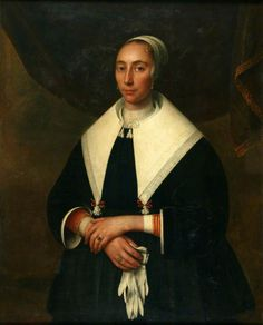 1650-1655 Abraham Liedts - A lady with gloves