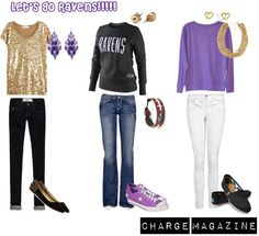 """Let's Go Ravens!"" by chargemagazine on Polyvore"