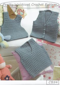 Over 20 Adorable baby designs, featuring inspiring designs with a variety of cute styles ideal for every day wear. Crochet Baby Sweaters, Crochet Baby Clothes, Baby Knitting, Crochet Poncho Patterns, Crochet Beanie Pattern, Crochet Waistcoat, Baby Boy Vest, Crochet For Boys, Beautiful