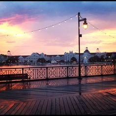 sunset at Disney's Boardwalk <3