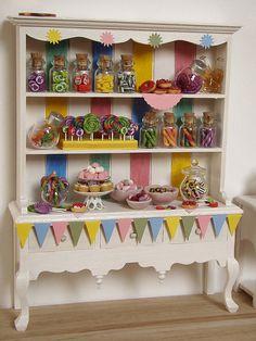 Miniature Food - Dollhouse Candy Cabinet #1 by PetitPlat - Stephanie Kilgast, via Flickr