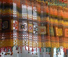 Crochet Curtains + Diagrams