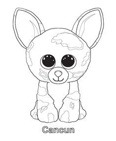 Beanie Boo Coloring Pages Lily Jo Pinterest Them