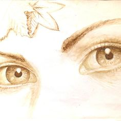 'Autumn eyes' by Corina Chirila Coffee Painting, Digital Paintings, Autumn, Eyes, Shirt, Fall, Dress Shirt, Basketball Jersey, Shirts