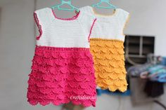 crochet baby summer dress for beach. A lot of info on this page just keep scrolling down to find pattern