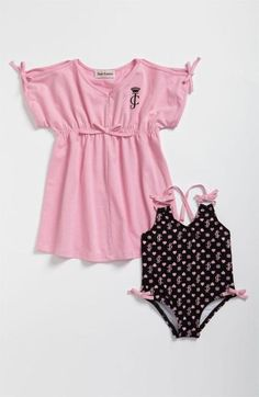 Juicy Couture Baby Girl Bathingsuit & Hooded Cover up