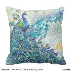 """""""Peacock"""" THROW PILLOW"""