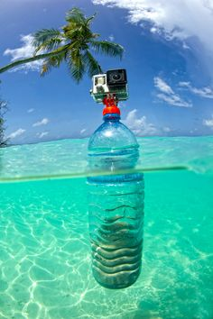 Turn your old plastic bottles into actioncam tripods with the SP Gadgets Bottle Mount - probably the coolest, yet easiest way to recycle your PET bottle! Check out our SP Gadgets online! #bluetomato #recycle #spgadgets