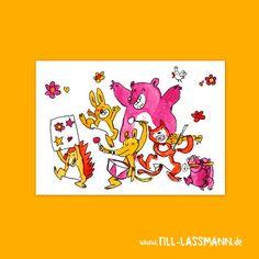 Music Parade * Animals * Postcard * Greeting Card  * Invitation * Illustration…
