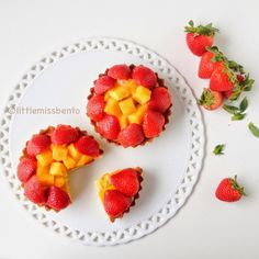Strawberry Tart, Fruit Tart, Fruit Salad, Raspberry, Mango Fruit, Custard, Homemade, Food, Fruit Salads