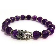 Amethyst Crowned Buddha Bracelet by Guilty jean. by Guilty Jean on Opensky