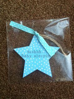 New baby gift. Hanging wooden heart. Nursery door sign. Boys. Ssshhh baby sleeping.