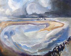 1916 zee met zandbank