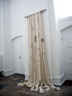 Grethe Wittrock various silk, linen, wool and syntetic yarns made into braids. 80 cm x 340 cm. 2007