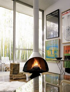 Malm Fireplace  DWR- something like this but gas