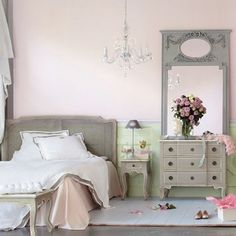 Grey furniture and love the mirror