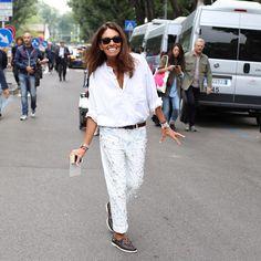 Viviana Volpicella in Dondup SS15 Jeans via @vanityfair