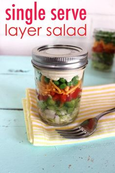 Looking for a way to spice up your lunch routine, but don't want to spend a bajillion dollars ordering out every day? The answer is here! Pack a salad in a mason jar and you're good to go for the day. They're delicious, they're super healthy, and to top it all off, they look really, really cool.