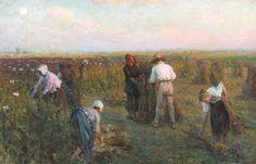 Jules Breton (1827-1906) La Récolte des Coquelicots,1896