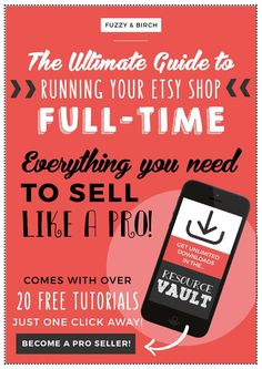 The Ultimate Guide to Etsy - Side Effects Include: Monthly income you can trust, a well-organized business, and total clarity on where you should spend your time and money. Click to get started now!