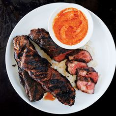 Grilled Short Ribs with Sesame-Chipotle Mole Recipe