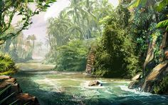 The creators of Far Cry 3 wanted aimed to make the jungle look lush. They wanted bright, vivid, green, dense vegetation that would convey the tropical setting of the island.