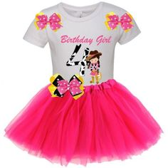 Pink Tutu Birthday Party COWGIRL Edition Outfit Set
