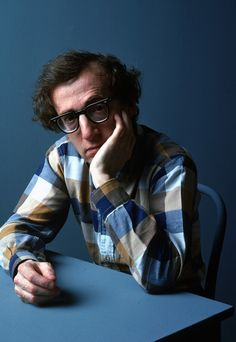 Woody Allen, Photograph by Henry Wolf. Kodachrome.