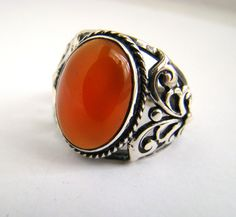 925 Sterling Silver Onyx Ring Size T for UK (9 5/8 for USA). £60.00, via Etsy.