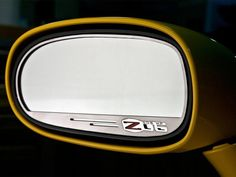 Dress up your Corvette with our Brushed - Stainless Steel, Side View Mirror trim with Z06 505hp logo. These trim pieces are designed to fit with in the outer frame of the side view mirror and add a clean stylish look to your Corvette exterior.   Fits all 2006-2013 C6 Z06 Corvettes with auto-dim mirrors.  General Motors Trademarks are used under license to American Car Craft  Compliments our Z06 505HP Rear View Mirror Trim 041050.       This is a GM Licensed product.    100% Stainless Steel…