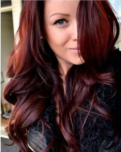 "Auburn hair color is a variation of red hair color but is more brownish in shade. Just like the ombre,Read More Flattering Auburn Hair Color Ideas"" Dark Auburn Hair Color, Red Brown Hair Color, Red Purple, Color Red, Red Burgundy, Cherry Cola Hair Color, Auburn Brown, Cherry Brown Hair, Cherry Red"