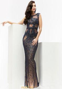Beaded Long Jasz Couture Dress 5950
