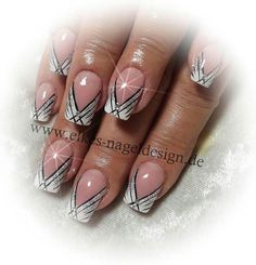 French nail art by elkes – Neauty ideas Nail Tip Designs, French Nail Designs, Beautiful Nail Designs, Beautiful Nail Art, Art Designs, Fabulous Nails, Gorgeous Nails, French Nails, Cute Nails