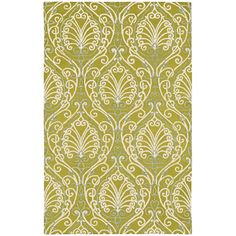 Candice Olson Modern Classics Chartreuse Hand Tufted Rug