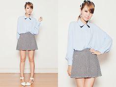 Ellysage Skirt, Chicnova Shoes, Chicwish Top, Ingni Headband, L.Chance Earrings
