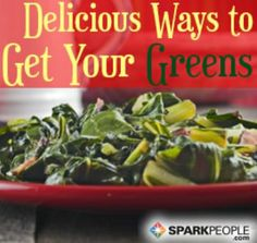 Spinach and swiss chard and kale, oh my! | via @SparkPeople #diet #nutrition #food #recipe