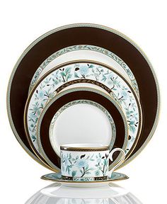 Marchesa by Lenox Dinnerware, Palatial Garden 5 Piece Place Setting - Fine China - Dining & Entertaining - Macy's