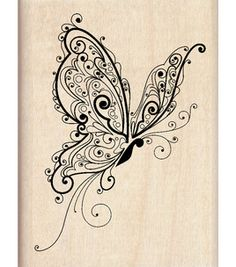 Inkadinkado Rubber Stamp - Butterfly