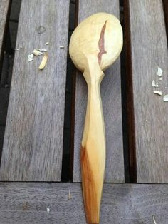Hand carved spoon
