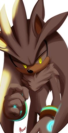 Silver the hedgehog.