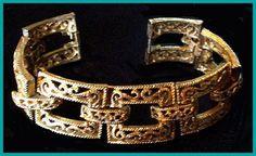 Vintage Crown Trifari Bracelet Filigree by BrightgemsTreasures, $24.50