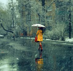 Sometimes you just need a walk in the rain.  Or snow...