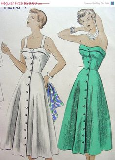 SALE Vintage 50's VOGUE Sewing Pattern 6710   Lovely by anne8865, $25.16