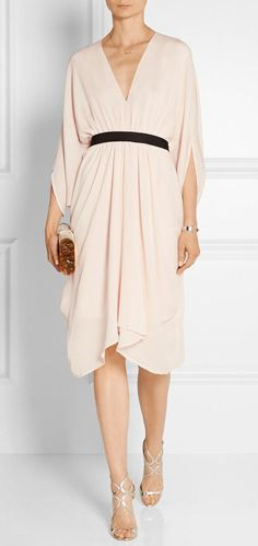 Ness belted silk-georgette dress