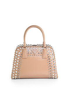 prada purse pink - Prada - Saffiano Vernice Embellished Medium Promenade Top Handle ...