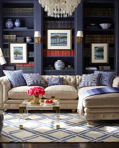 Cheeky in Blue: Cozy paneled rooms...